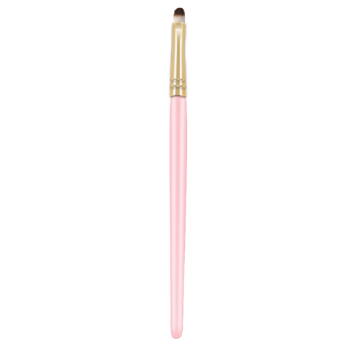 pink wooden handle lip brush