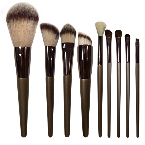 High quality 9pieces makeup Brushes set-factory wholesale price