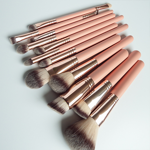 Premium Cosmetic Makeup Brush Set for Foundation Blending Blush Concealer Eye Shadow, Cruelty-Free Synthetic Fiber Bristles