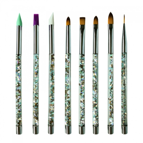 New design OEM shenzhen top high quality hot sell makeup brushes set flat brush contour brush
