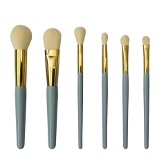 6pc personalised makeup brush set with private label makeup tools for GIRLS