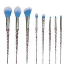 8pcs makeup brush set glitter crystal handle