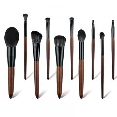 Classic Makeup Brush Set for Beginner and Professionor, 10 Pieces Brushes Including Foundation, Powder, Contour, Concealer and Eyeshadow
